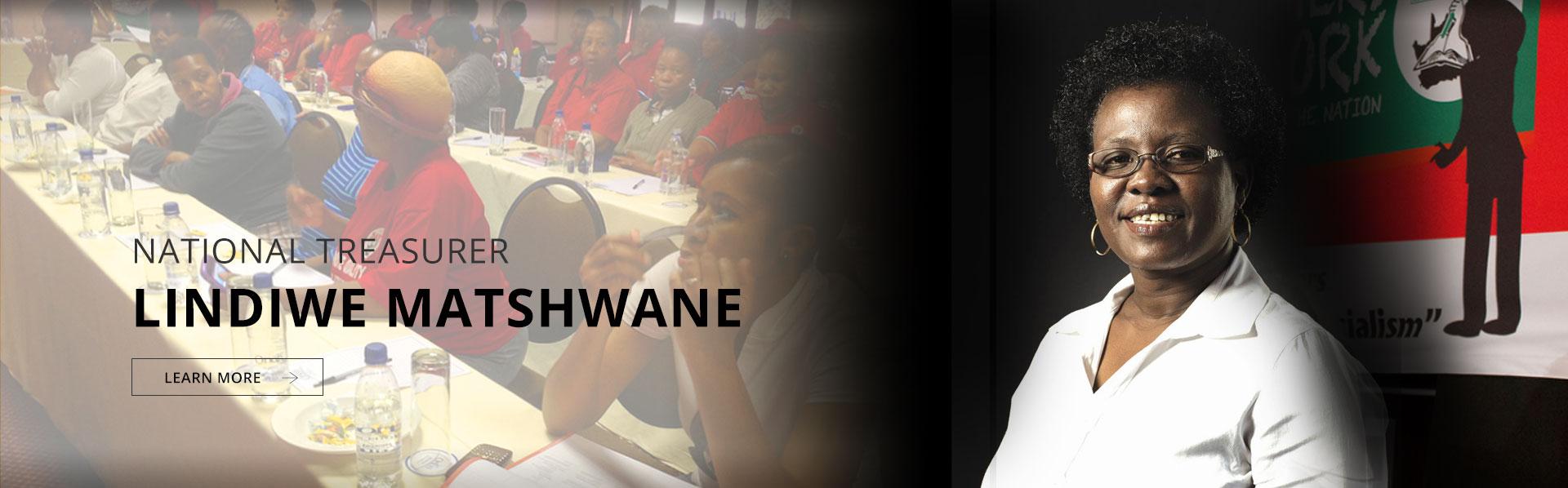 National Treasurer: Cde Lindiwe Matshwane